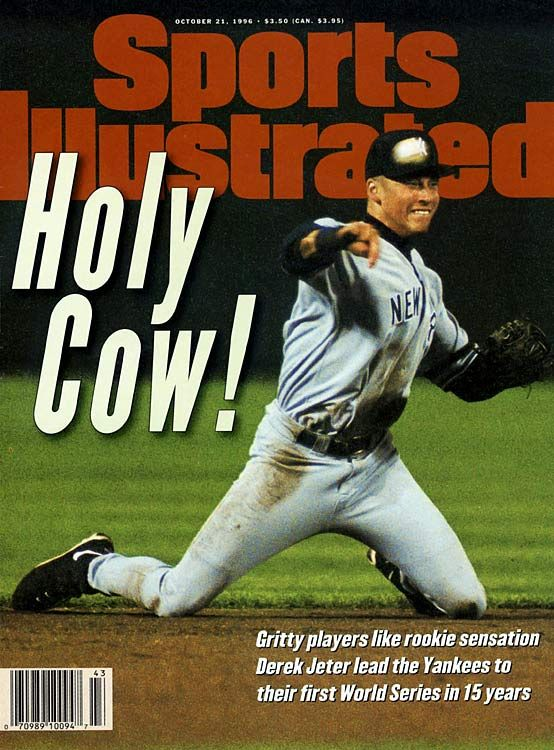 Derek Jeter's rookie cover shot from SI on Oct. 21, 1996. The Yankees will be celebrating DJ today Sep. 7, 2014 at the Stadium today.