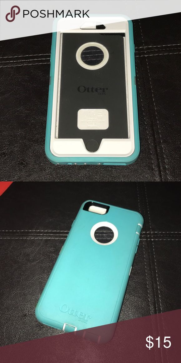 Otter Box Defender IPhone 6 Plus Teal. Blue. Otter Box Defender. iPhone 6 Plus Case. Used Great Condition. OtterBox Accessories Phone Cases