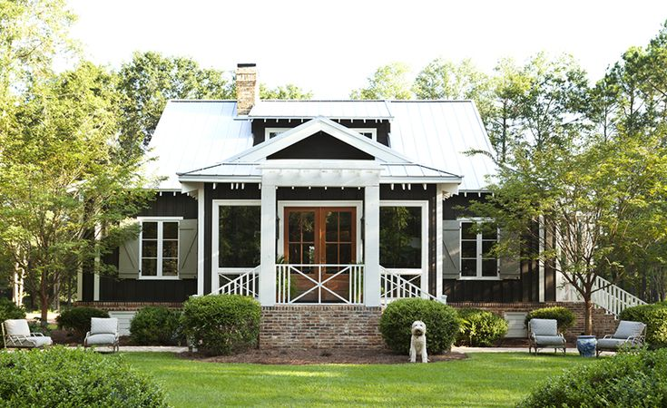 A traditional Southern cottage, this design is simple yet elegant. The front exterior present an inviting entry, but the real surprise is waiting inside.