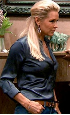 Love Yolanda Foster's Cross / Rosary Necklace? Get the info on BigBlondeHair.com http://www.bigblondehair.com/real-housewives/yolanda-fosters-dinner-party-cross-necklace/