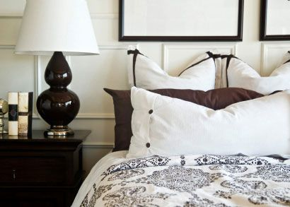 black, white and chocolate brown bedroom color schemes