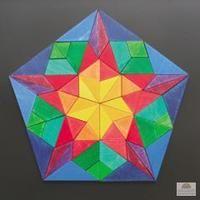 Grimms Mini Magnetic Mandala Puzzle Pentagon Vinci