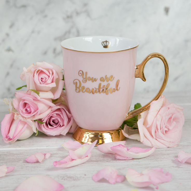 Cristina Re - 'You are Beautiful' Mug - 24ct Gold plated