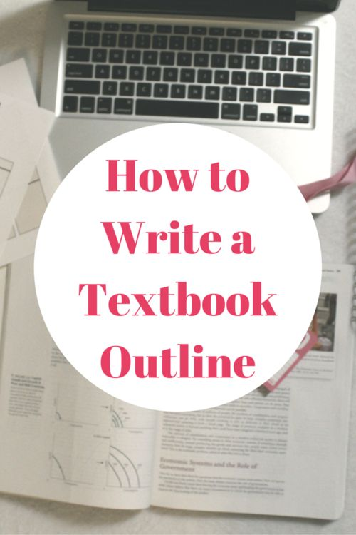 How I Write my Textbook Outlines — The College Life Stylist