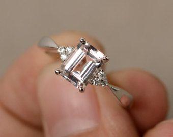 Lab Sapphire Ring Silver Gemstone Ring September Birthstone