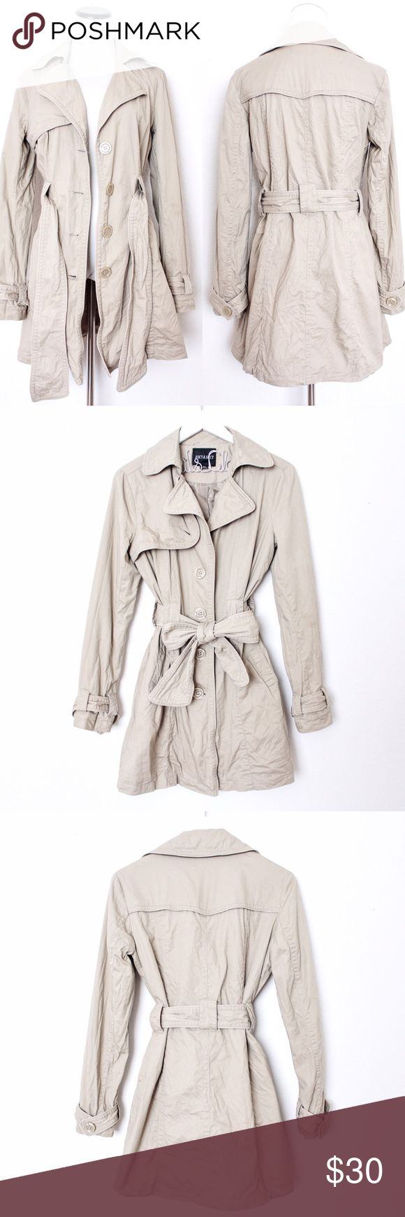 "Khaki Long Lightweight Trench Coat Juicy & Spicy ⑊ Size M  ⌁ Measurements: 32"" length 20"" bust (pit-to-pit) 24.5"" sleeve length 16.5"" shoulder  ⌁ Material: 100% cotton  ⌁ Condition: New without tags! Missing a button on the flap as shown.  Comment below if you have any questions. Please make all offers using the ""offer"" button. No trades. No holds. Comes from a smoke-free/pet-free home. Not responsible for lost/damaged mail. All sales are final. ♡ Juicy & Spicy Jackets & Coats Trench Coats"