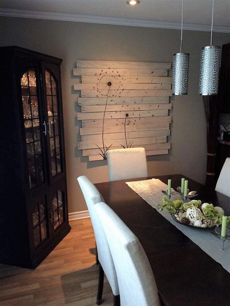 Wood pallets cannot only be used for creating the items like the furniture; they can also be used for the wall art creation that fulfills the adorning purpose. One can make everything on it using the paints and they are easy to attach to the wall.