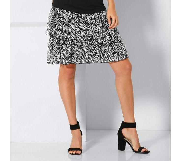 Volánová sukně s potiskem | blancheporte.cz #blancheporte #blancheporteCZ #blancheporte_cz #skirt