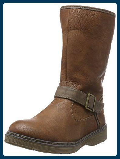 MUSTANG SHOES Damen Schuhe Kurzschaft Stiefel Stiefeletten Braun 301 kastanie