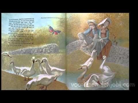 De Ganzehoedster - Sprookje van De gebroeders Grimm met plaatjes