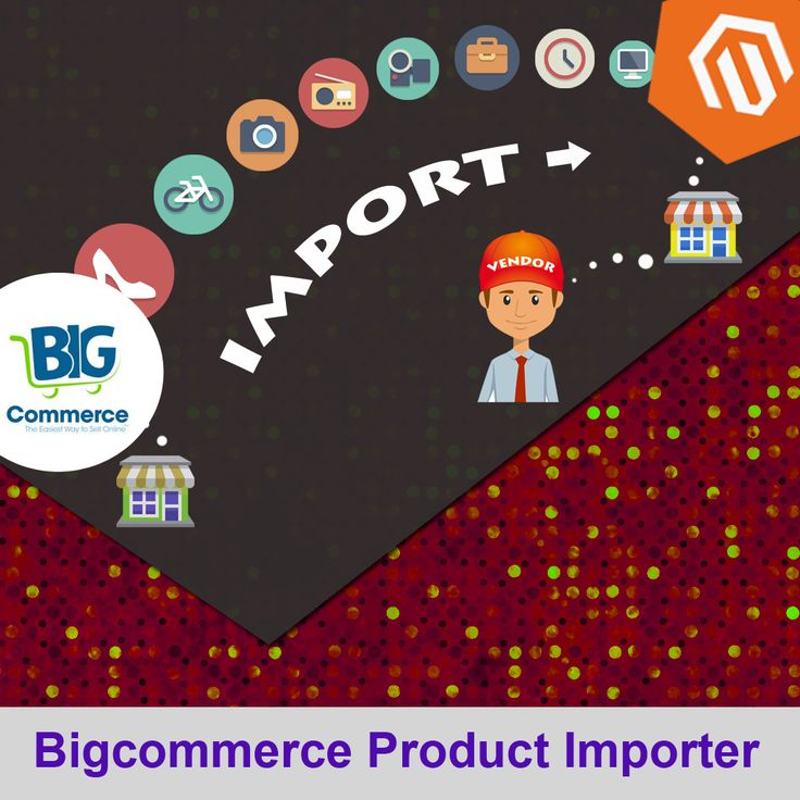 Bigcommerce Product Importer extension enables the vendor to import products from BigCommerce. Features:- 1. This Magento extension is used for importing the products from BigCommerce store to Magento. 2. User can import Simple and Configurable products of his store. 3. One click process for importing the products and images from the store. 4. Imports all the product images as well. 5. Creates attributes for products dynamically.