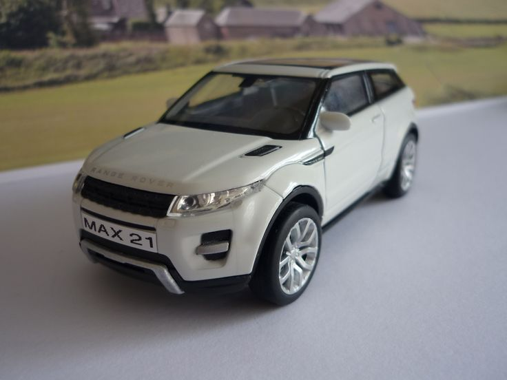 Personalised Plates Gift White Land Rover Evoque Boys Toy Car
