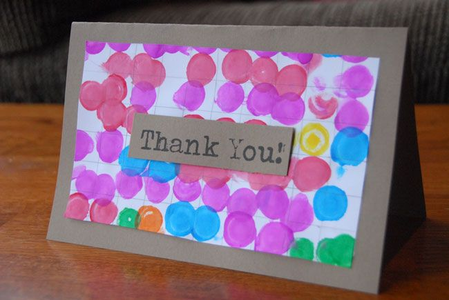kid made thank you cards - Google Search                                                                                                                                                      More