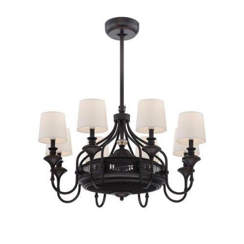 Brisa Bronze Fluorescent Eight Light Ceiling Fan