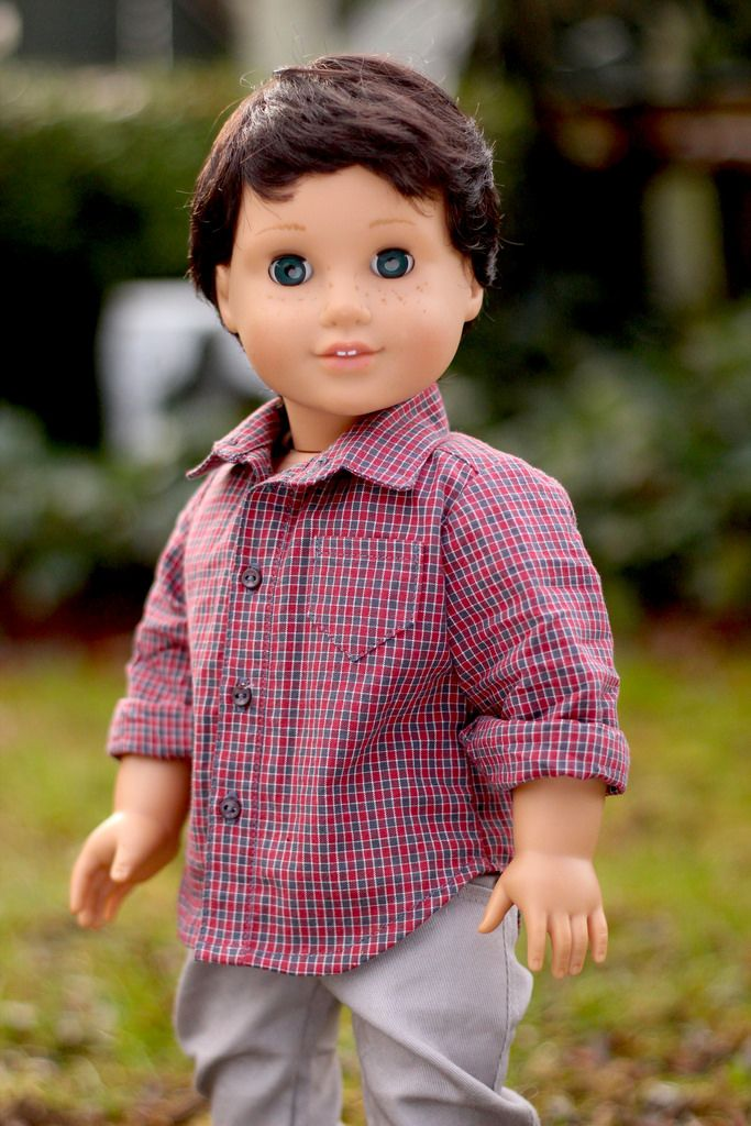 This is my first photo shoot of my newly made boy doll, Jack.  He was a Nellie who had a wig swap for something a little more manly.  Gypsie and Jack are twins, and I think their looks complement each other well.