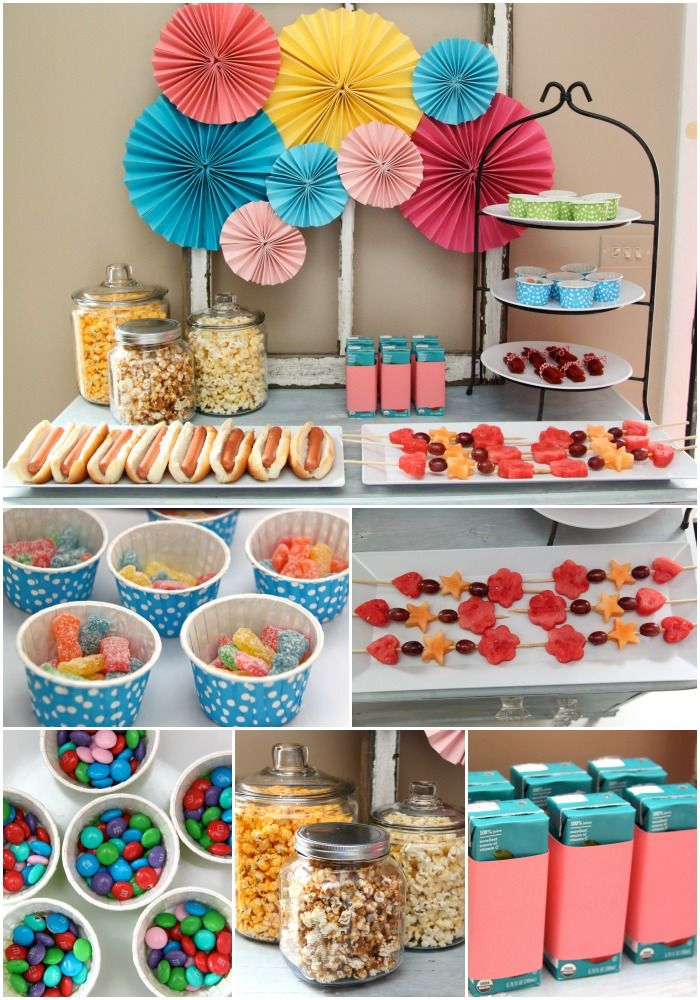 Set the scene for family movie night with this adorable DIY snack center.
