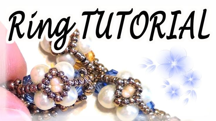 Bead Tutorial: how to make an easy ring / bracelet with beads (bicones a...