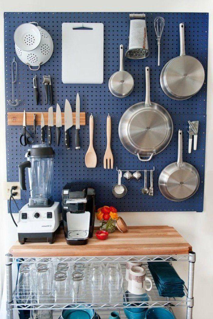 Am nager une petite cuisine 40 id es pour le design for Organisation petite cuisine