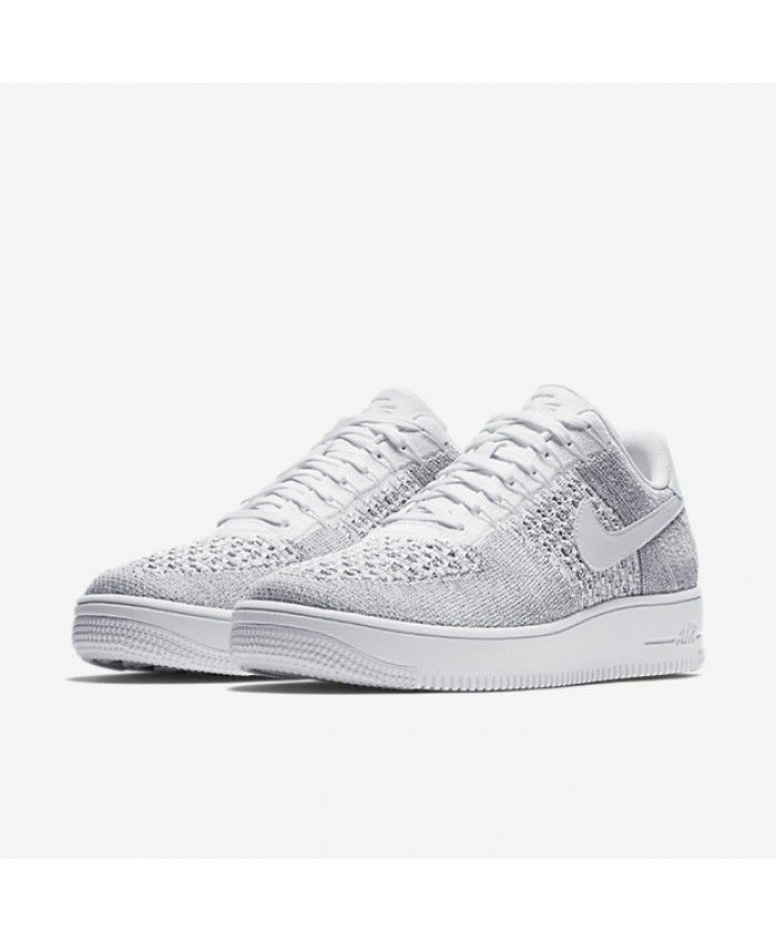 online retailer 887a2 82b88 Men s Nike Air Force 1 Flyknit Low Cool Grey White White