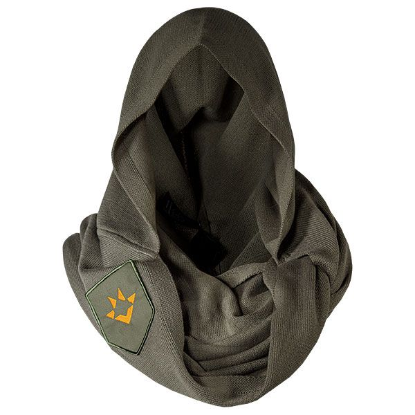 Stay warm and look cool this winter with this Destiny Hunter Cape Scarf. This oversized scarf with built-in hood looks just like the classic Hunter design.  It is a soft cotton-mix knit fabric that keeps Guardians warm and cozy. There's nothing better than being warm and cozy. Plus you will always