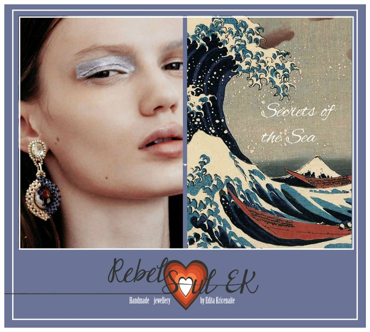 RebelSoulEK beaded earringf Secrets of the sea ocean theme