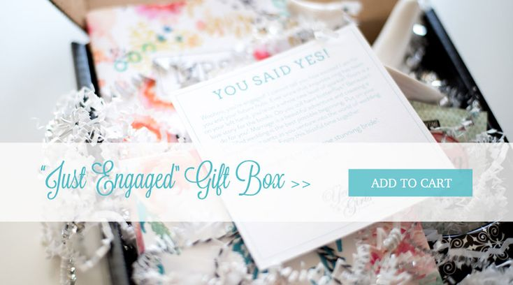 Engagement Gift Box - gift ideas for brides! $49