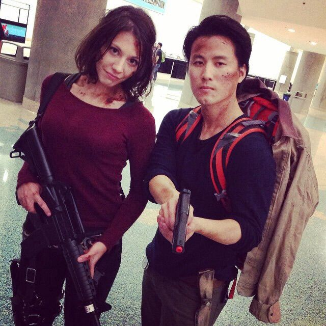 Amazing Glenn and Maggie cosplay
