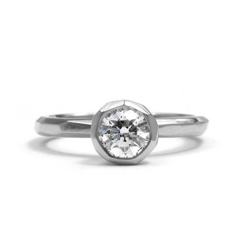 Cup Setting White Gold Engagement Ring by Krista McRae