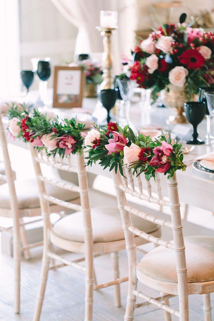 Because chairs do matter!  #valentinesday #flowergarland #chairdecoration #chair #decoration #flowers #artdelatable #weddingplanner #red #pink #gold #black #dreamsinstyle