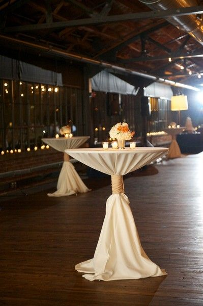 So beautifully decorated for a wedding cocktail hour! {Blume Photography}