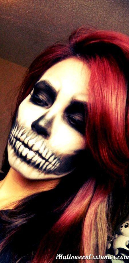 skull makeup - Halloween Costumes 2013