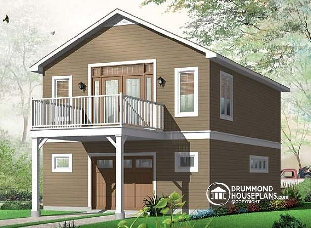 W3954 garage plan with apartment on second floor one for 8 car garage plans