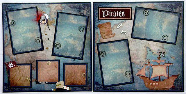 DISNEY SCRAPBOOK -pirates layout