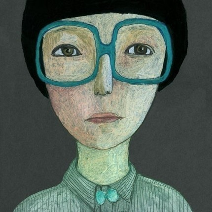 Everyone should look at the world through turquoise glasses, right?      Love the perspective...