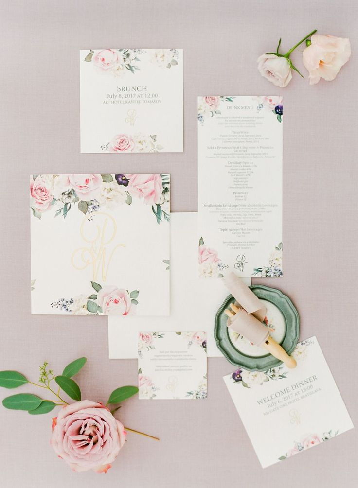 wedding invitation tied with ribbon%0A This Wedding Was Inspired by the Most Gorgeous Floral Gown