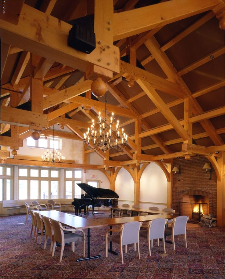 Trapp Family Lodge Mozart Room Hammer Beam Truss