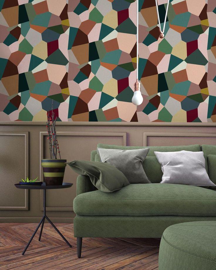 les 25 meilleures id es de la cat gorie papier peint g om trique sur pinterest papier peint. Black Bedroom Furniture Sets. Home Design Ideas
