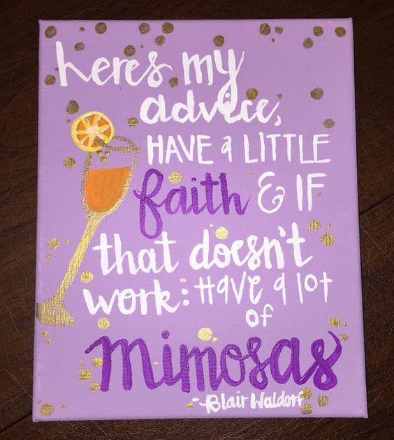 Gossip Girl Blair Waldorf Quote Canvas by CelestialOriginals