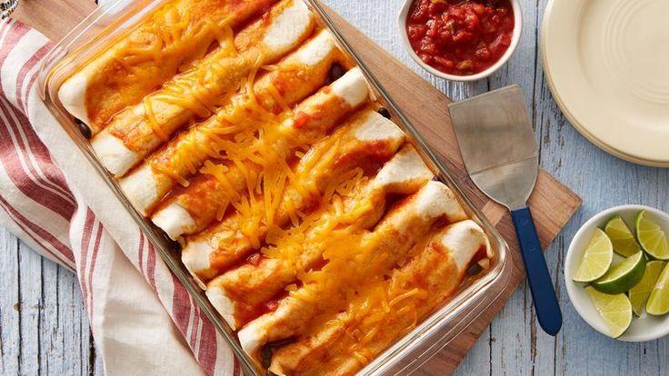 "Has it ""bean"" long since you've had a fiesta?  Enchiladas make a great start.  Olé!"