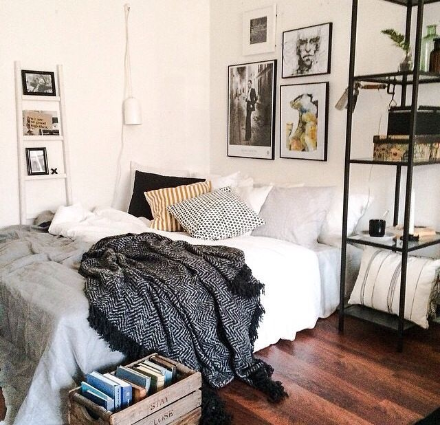 IKEA shelves as nightstand