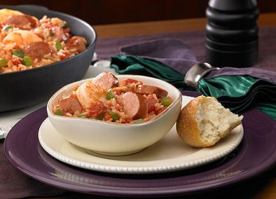 Johnsonville Andouille Sausage and Shrimp Jambalaya