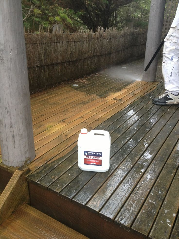 The importance of cleaning a grey deck with a product like Quantum Timber Finishes DEX PREP
