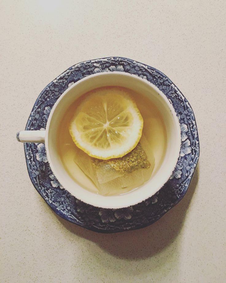 Cup of Buchu Tea with a slice of Lemon