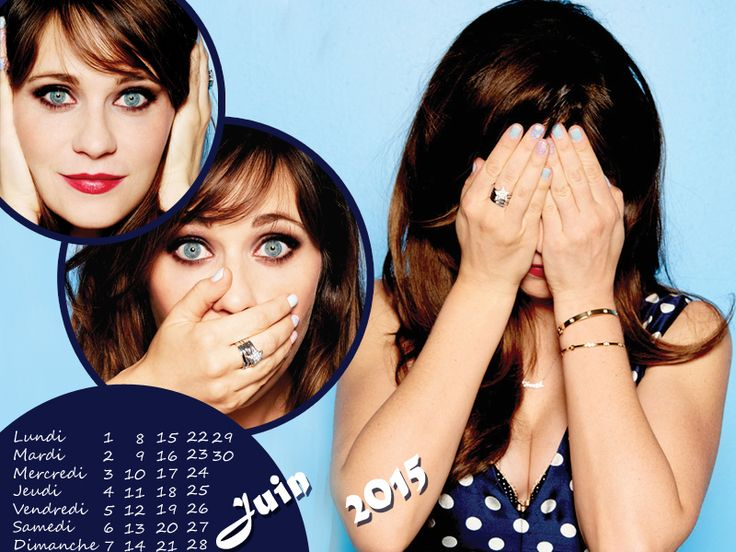Calendrier Juin 2015 New Girl #ZooeyDeschanel http://new-girl.hypnoweb.net/