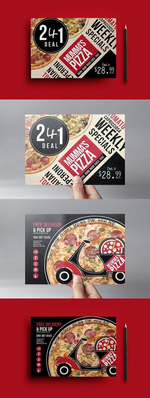 Encantador Plantilla De Flyer De Pizza Ilustración - Colección De ...