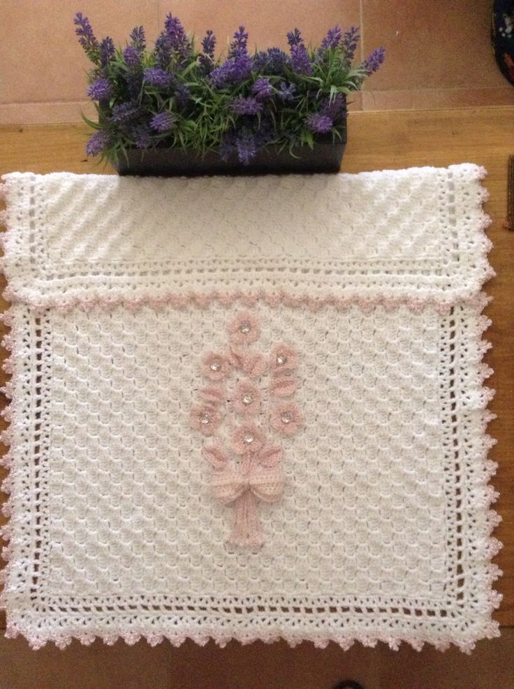 Flowers buggy blanket