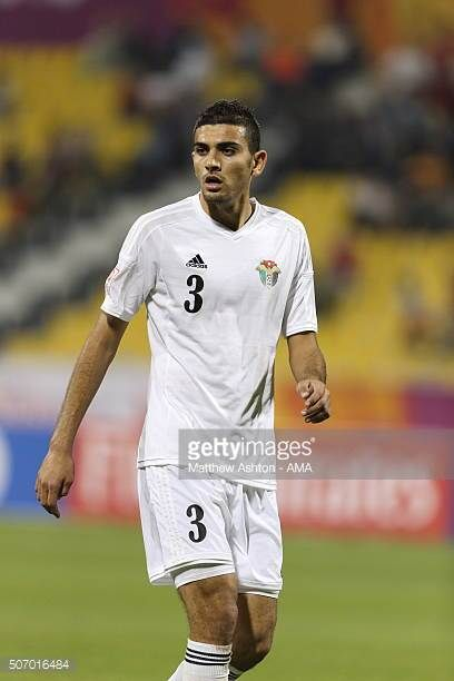 Mohannad Alsouliman of Jordan during the AFC U23 Championship quarter final match between South Korea v Jordan at the Suhaim Bin Hamad Stadium on...