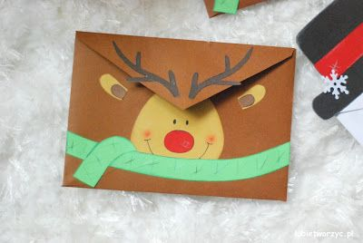 Handmade'owa koperta w wersji reniferowej