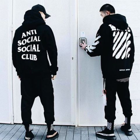 """Don't miss out on the """"Anti Social Social Club"""" bandwagon. Get yourself this hoodie while this trend is HOT. Print: ANTI SOCIAL SOCIAL CLUB Gender: Men Item Type: Hoodies,Sweatshirts Brand Name: RUMEI"""