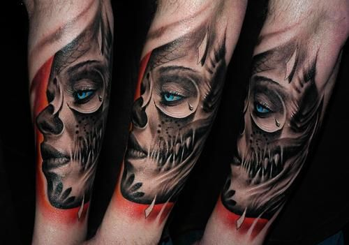 Day Of The Dead Skeletons | Tattoos…The Greatest from Around the World » day of the dead skulls